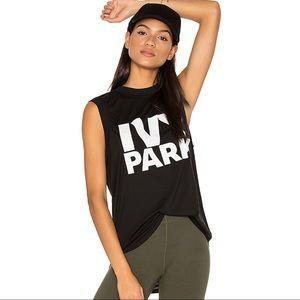 Ivy Park Black White Logo Muscle Tank Top